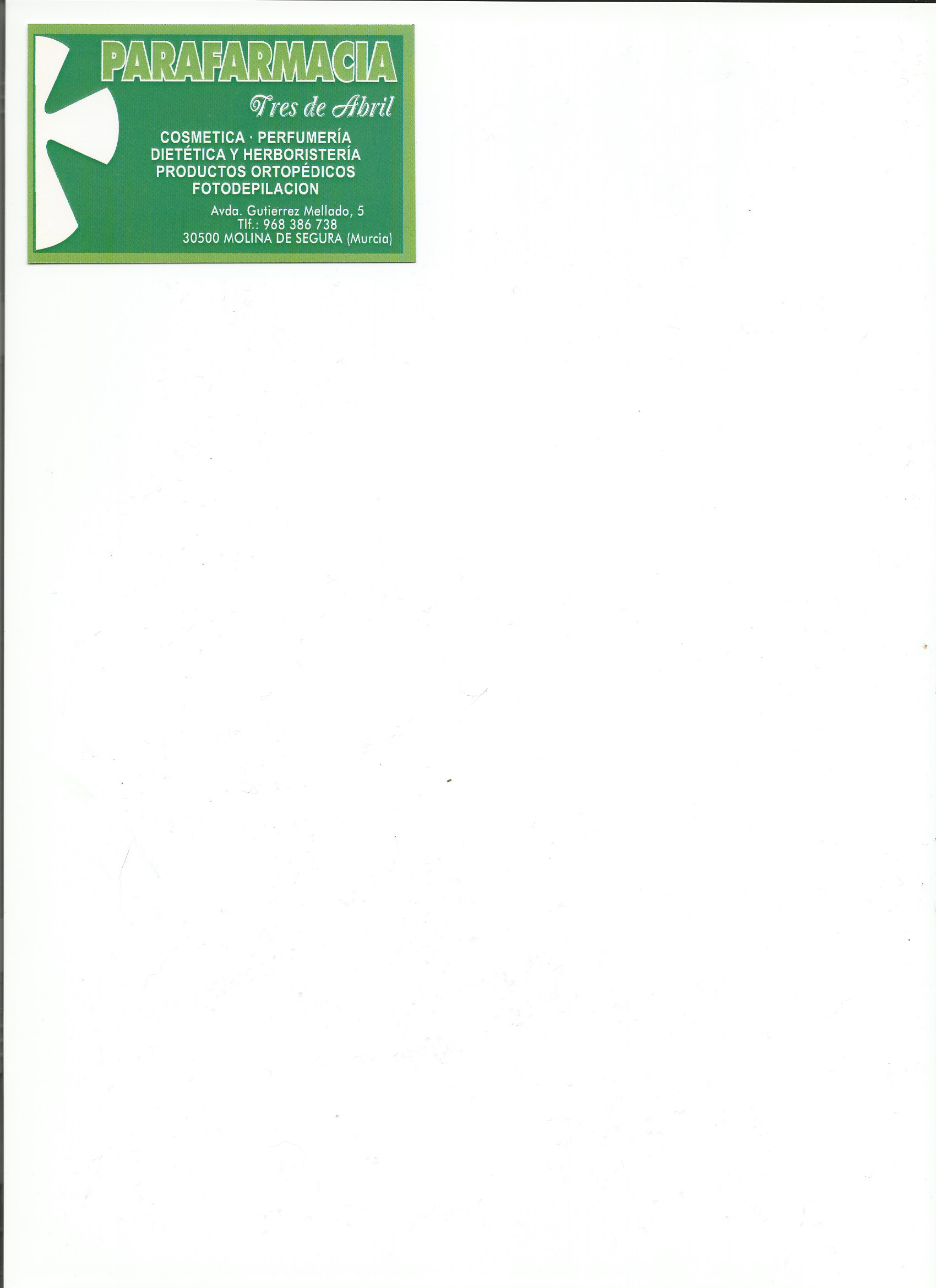 PARAFARMACIA TRES DE ABRIL, C.B.