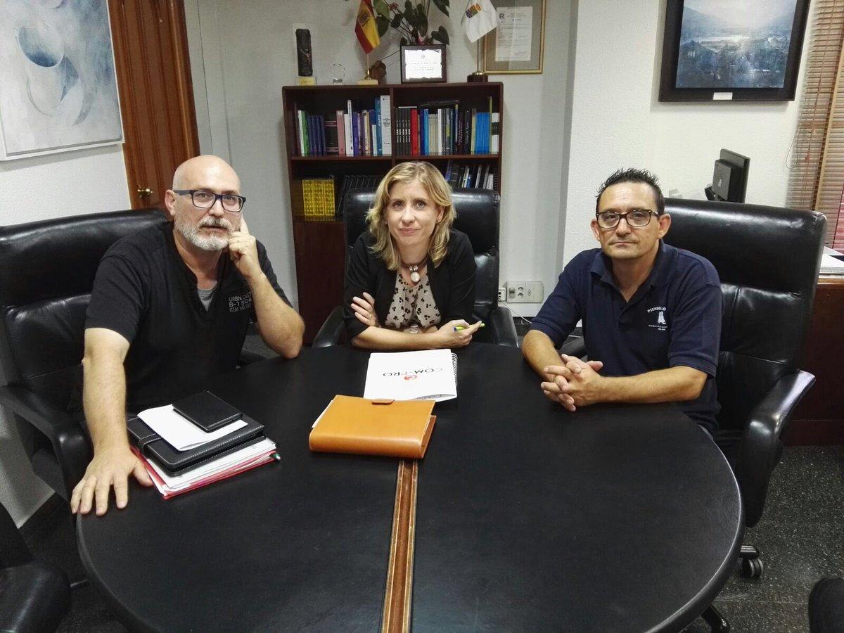 La alcaldesa, Esther Clavero, recibió a Com-Pro
