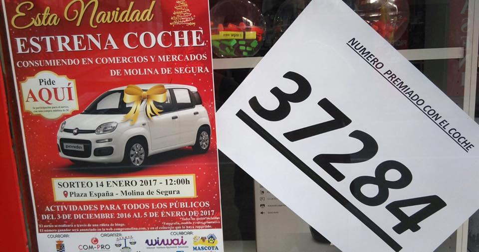 37284 ES NÚMERO PREMIADO CON EL COCHE