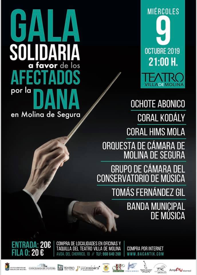Gala solidaria a favor de los afectados por DANA en Molina de Segura