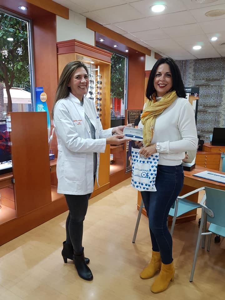 Entrega sorteo Facebook Optica Rosales